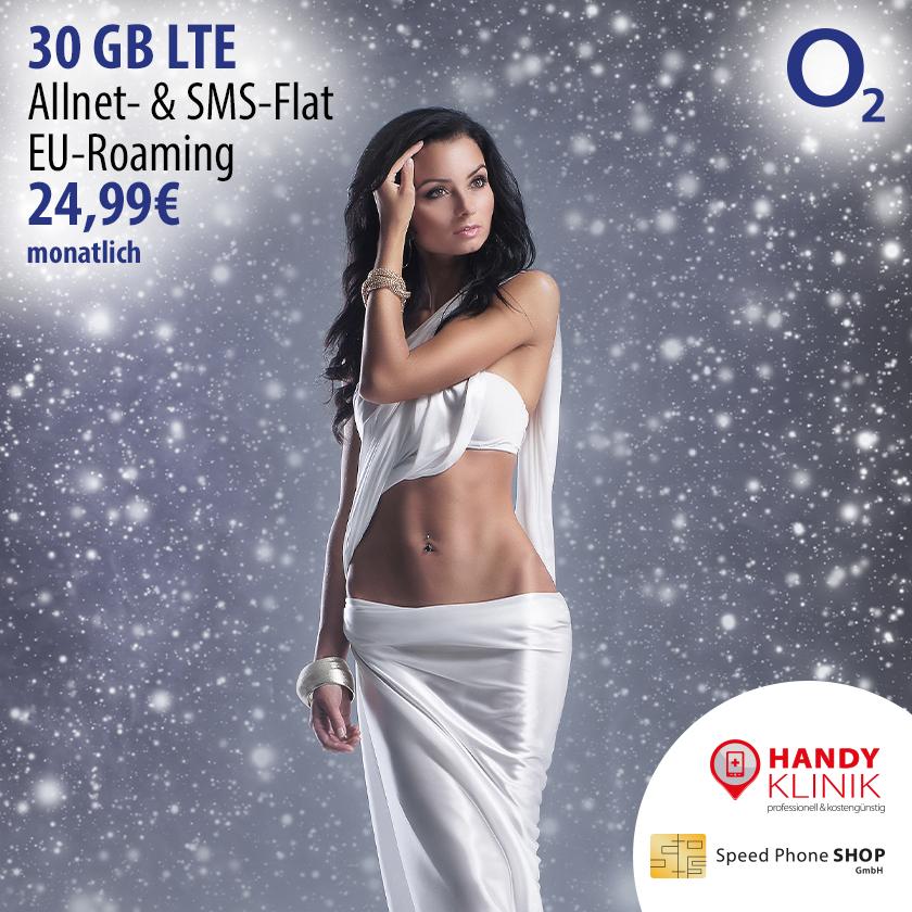 O2 Angebot mit 30GB im Januar 2019 bei Speed Phone Shop in Köln